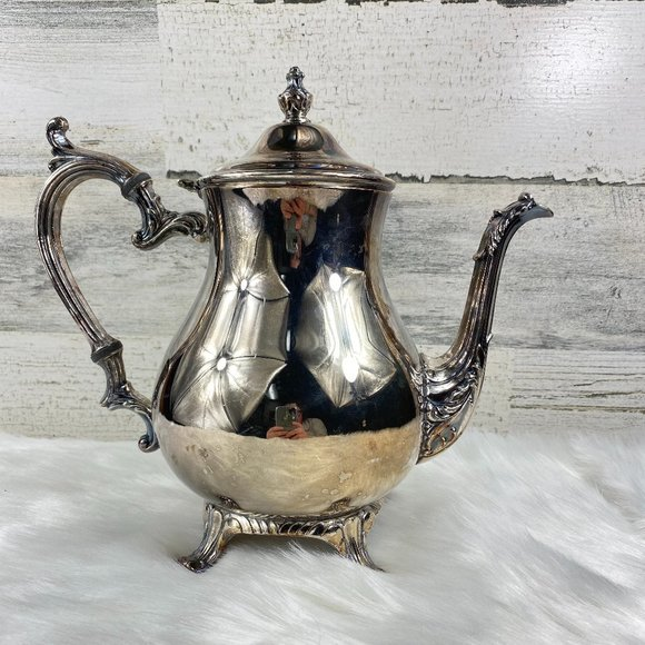 Vintage WM Rogers Silver-Plate Coffee Pot Pitcher